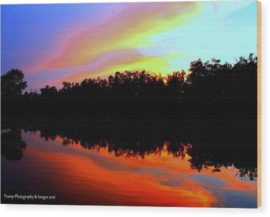 Sky Painting Wood Print