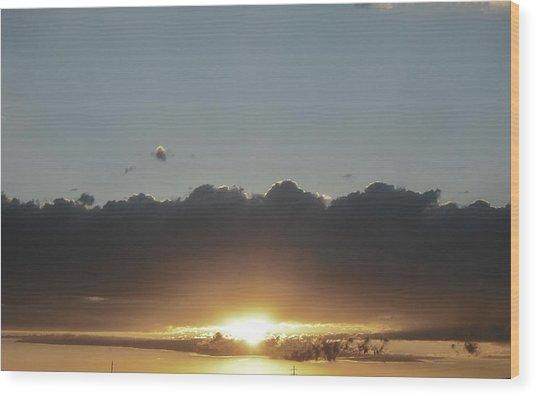 Sky  Wood Print by Paul Whitney