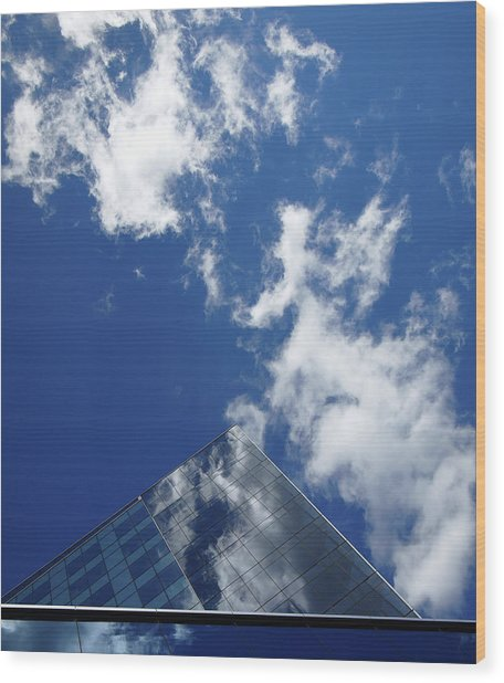 Sky Pyramid Wood Print