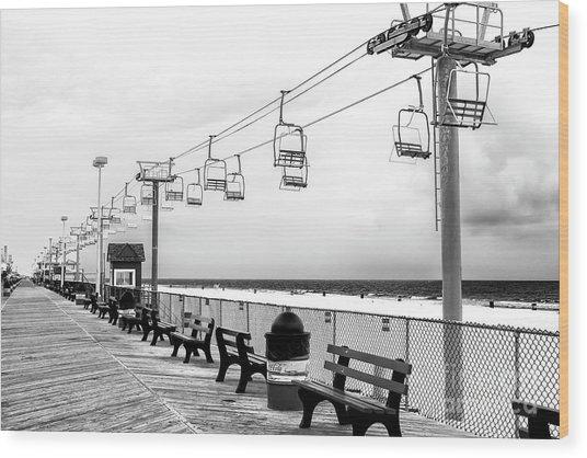 Sky Ride At Seaside Heights Wood Print