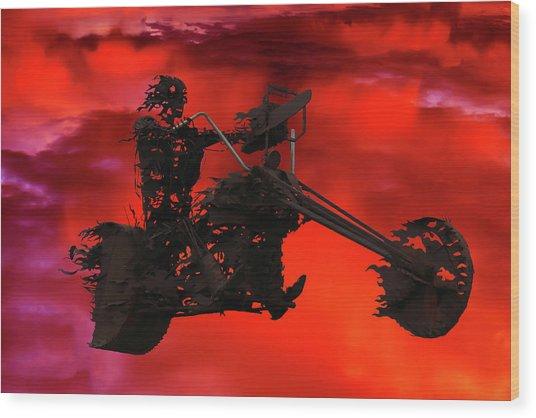 Sky Rider Wood Print