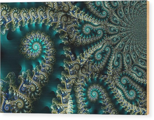 Sky Spirals Wood Print
