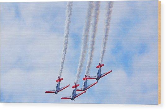 Sky Squadron Wood Print