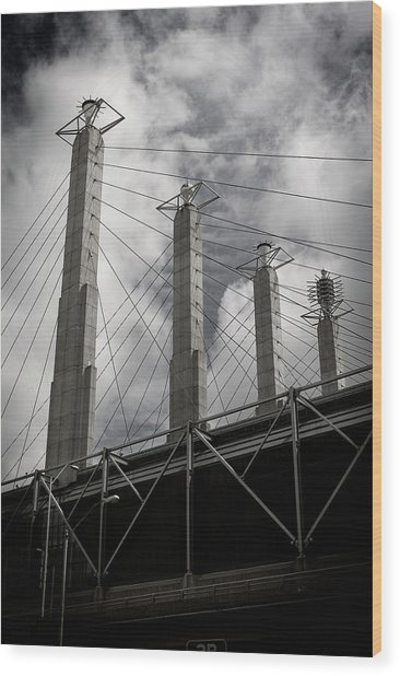 Sky Stations Kansas City Wood Print