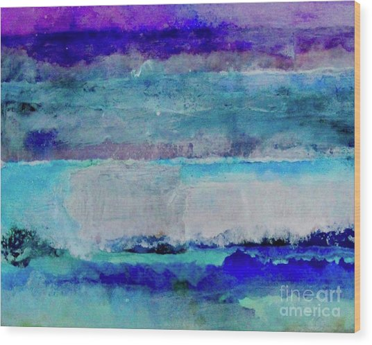 Sky Striations Wood Print