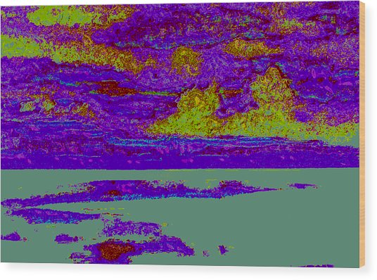Sky Water D4 Wood Print by Modified Image