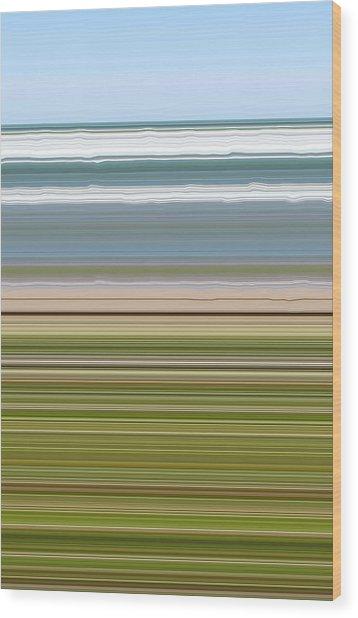 Sky Water Earth Grass Wood Print