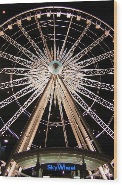 Sky Wheel Wood Print by Heather Weikel