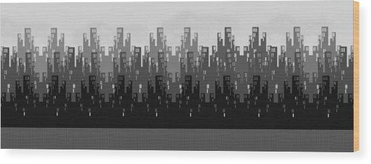 Skyline New York Wood Print