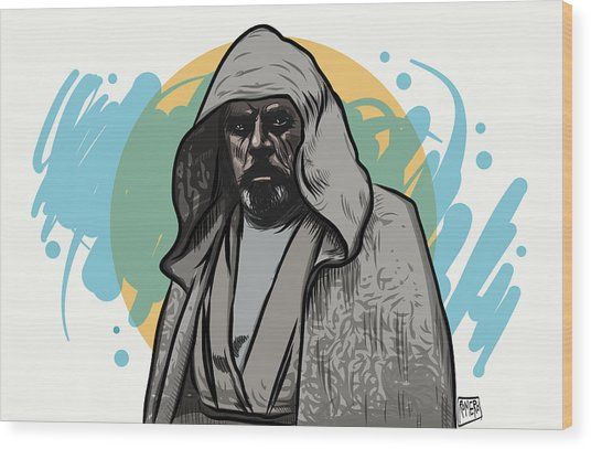 Wood Print featuring the digital art Skywalker Returns by Antonio Romero