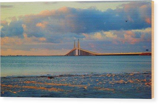 Skyway Bridge Wood Print