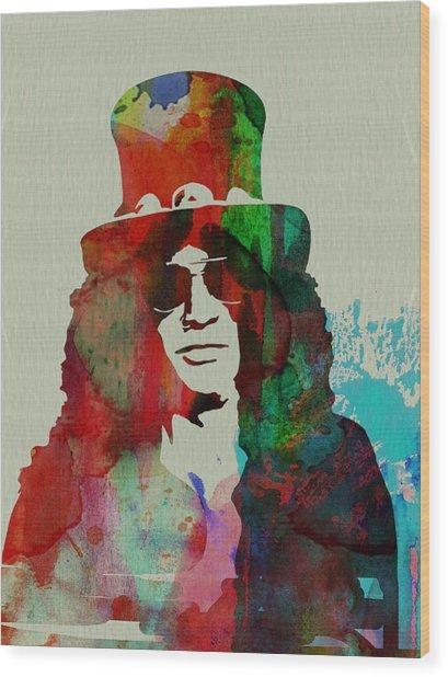 Slash Guns N' Roses Wood Print