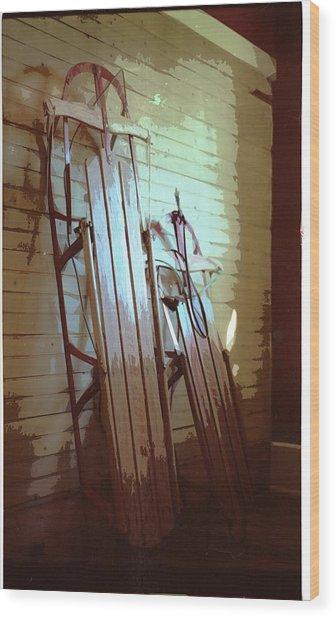 Sleds Wood Print by Michael Morrison