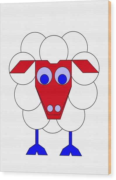 Sleep-sheep Wood Print by Asbjorn Lonvig