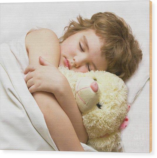 Sleeping Boy Wood Print