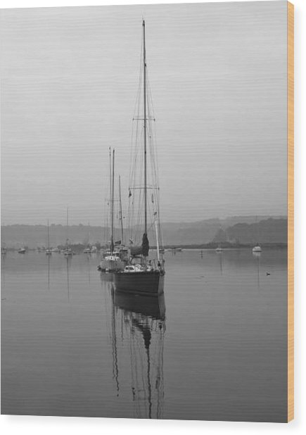Sleeping Yacht Wood Print by Arthur Sa