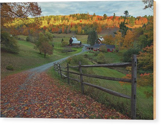 Sleepy Hollow Farm- Pomfret Vt Wood Print