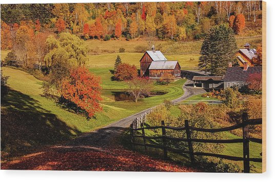 Sleepy Hollow - Pomfret Vermont-2 Wood Print