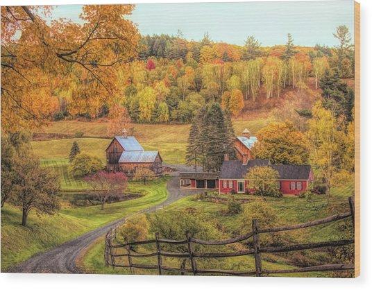 Sleepy Hollow - Pomfret Vermont In Autumn Wood Print