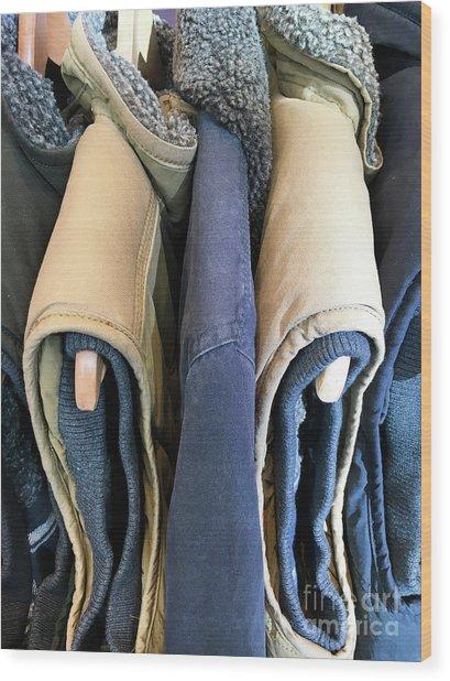 Sleeveless Jackets Wood Print