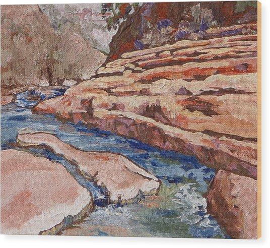 Slide Rock Wood Print