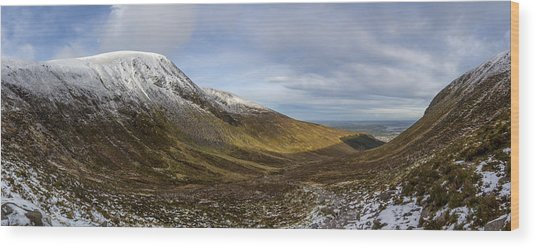 Slieve Commedagh And Slieve Donard Panorama From The Assent  Wood Print