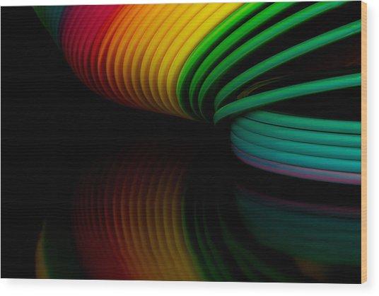 Slinky II Wood Print