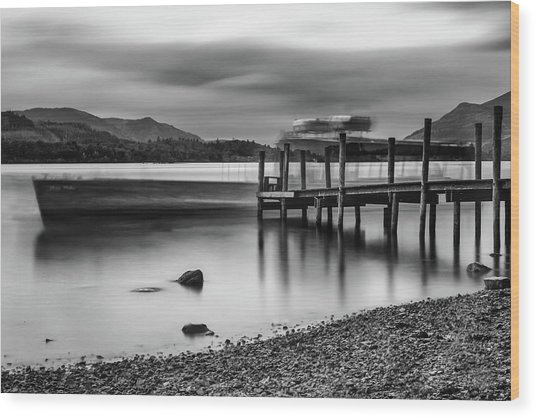 Slipping The Jetty Wood Print