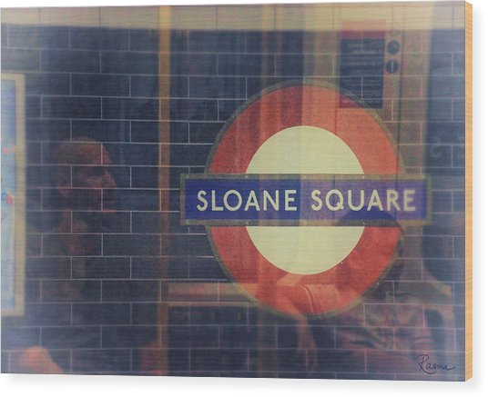 Sloane Square Portrait Wood Print