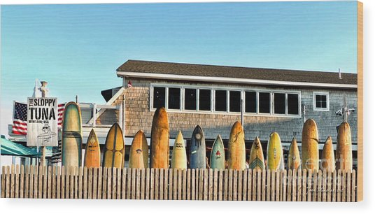 Sloppy Tuna Restaurant, Montauk Long Island Wood Print