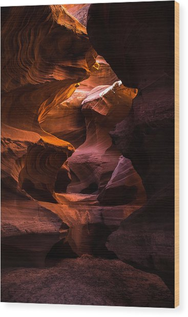 Slot Canyon Red Wood Print