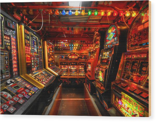 Slot Machines Wood Print