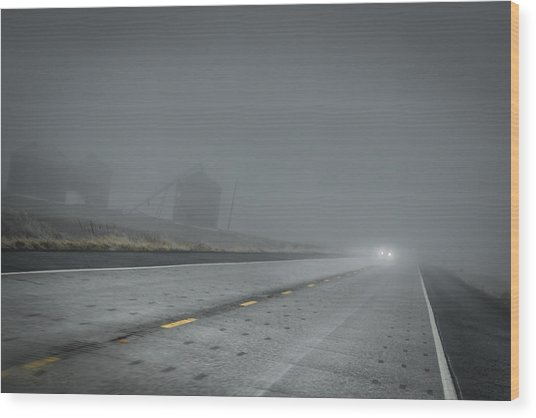 Slow Drive Home Wood Print