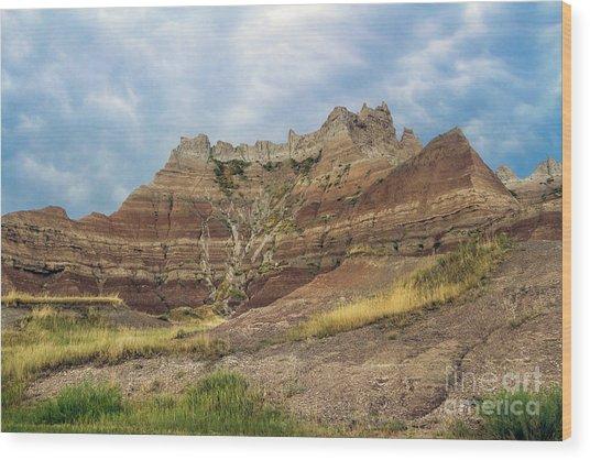 Slow Erosion Wood Print