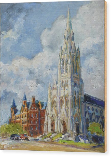 Slu - Grand And Lindell, Saint Louis Wood Print