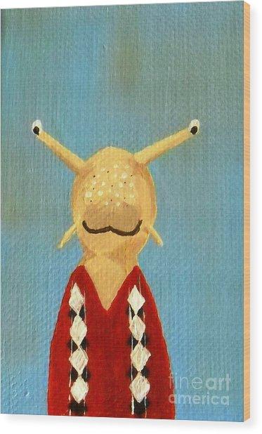 Slug's School Picture Wood Print