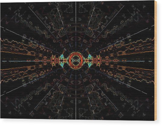 Small Bang Theory Wood Print by Alan Skonieczny
