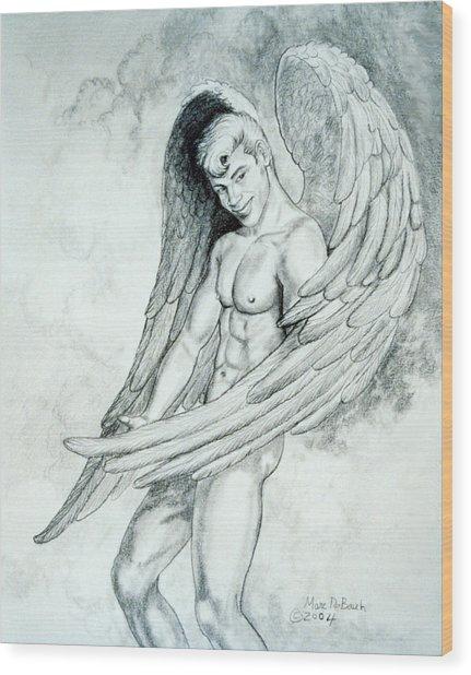 Smiling Angel Wood Print