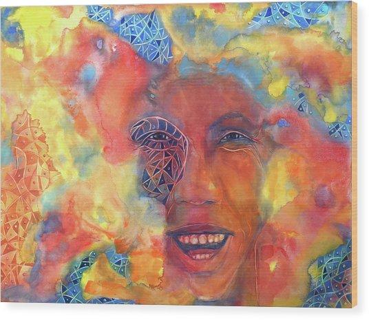 Smiling Muse No. 2 Wood Print