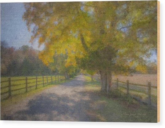 Smith Farm October Glory Wood Print