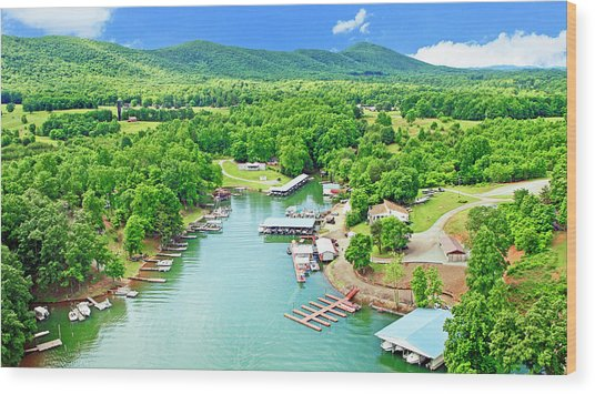 Smith Mountain Lake, Virginia. Wood Print