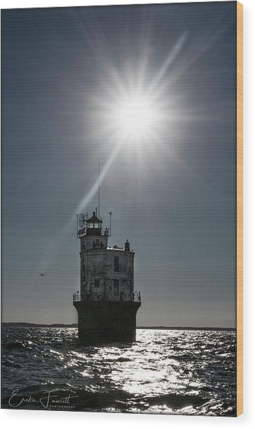 Smith Point Lighthouse Wood Print
