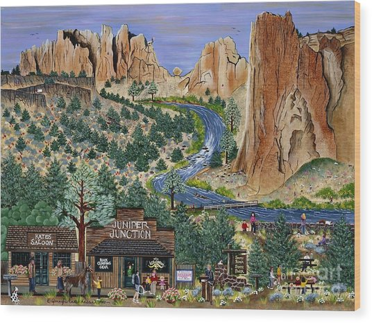 Smith Rock State Park Wood Print