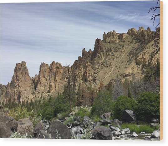 Smith Rocks Wood Print