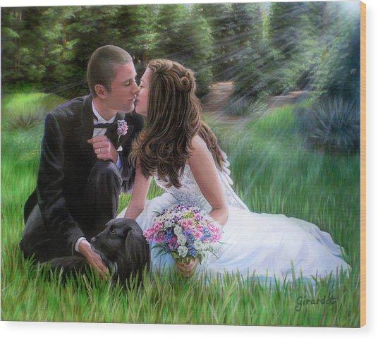 Smith Wedding Portrait Wood Print