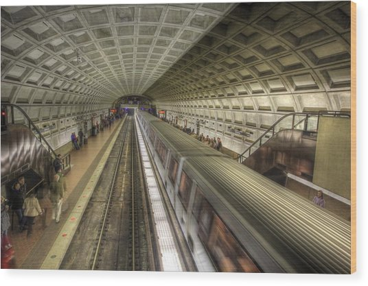 Smithsonian Metro Station Wood Print