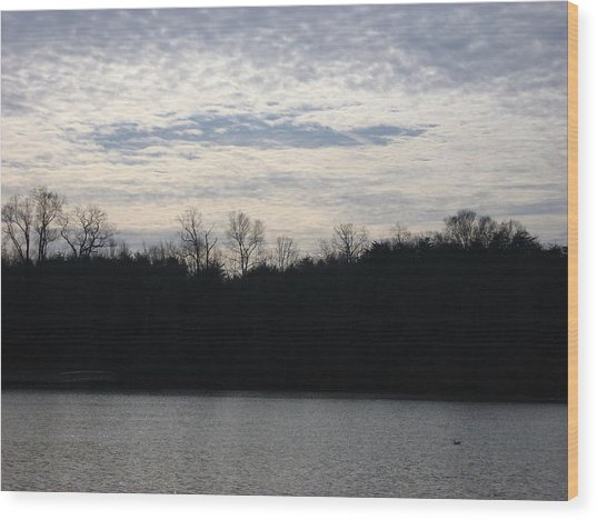 Smithville Landscape Wood Print by Jennifer  Sweet