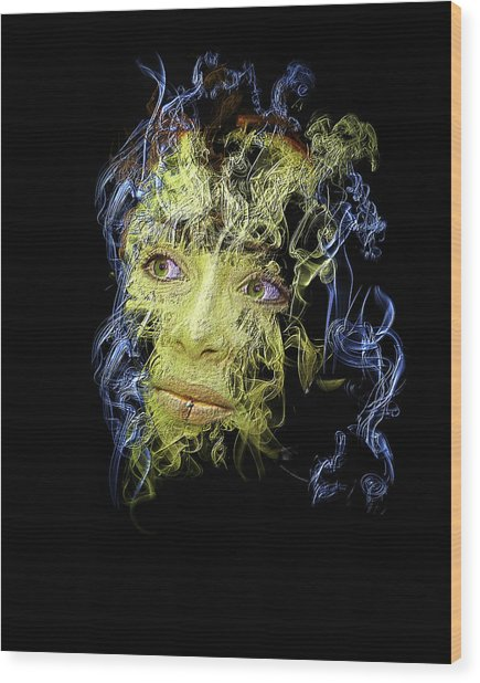 Smoke And Mirror Wood Print