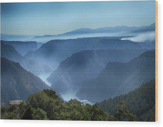 Smoke Over Flaming Gorge Wood Print