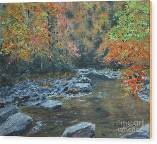 Smokey Mountain Autumn Wood Print